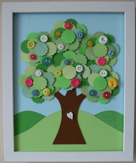 Картина дерево из бумаги