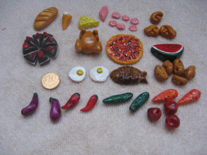 Продукты для кукол своими руками из пластилина