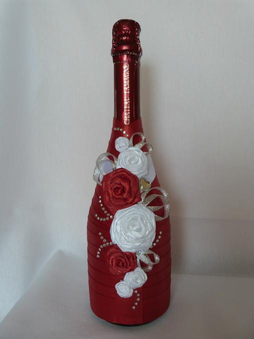 Оформление бутылок для шампанского своими руками