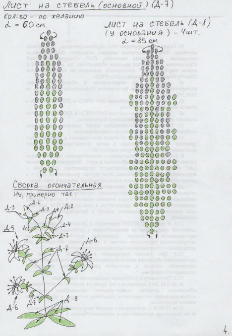 Мк по плетению лилии из бисера