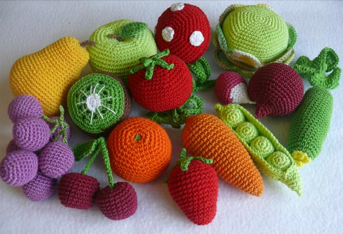 Новый набор фруктов-овощей.