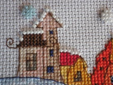 Схема вышивки зимний сон