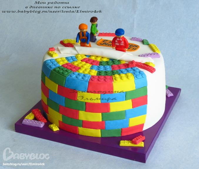 Торт лего