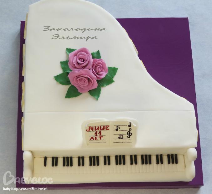 торты пианино фото