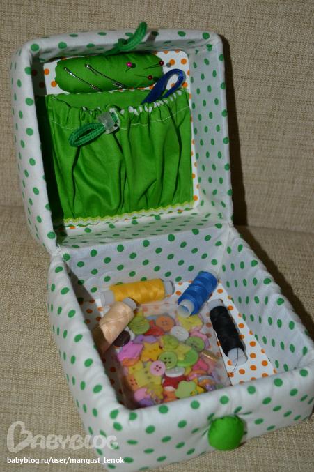 Коробка для иголок и ниток своими руками