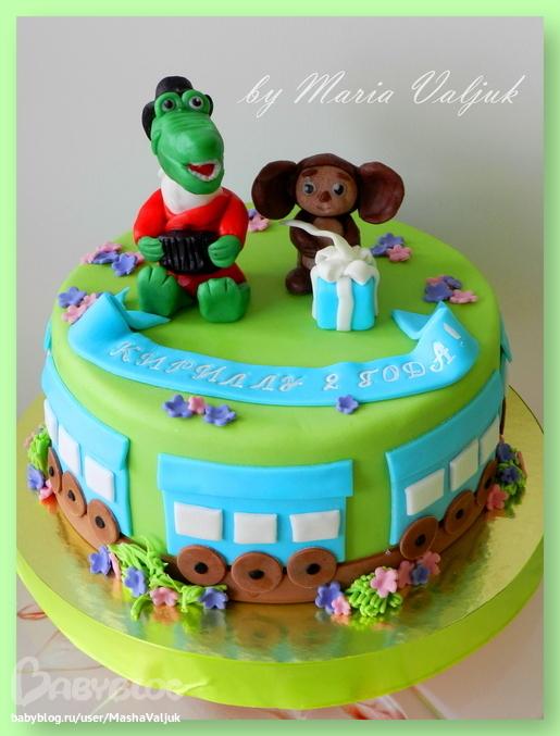 Фото тортов с рисунком чебурашки и гены крокадила