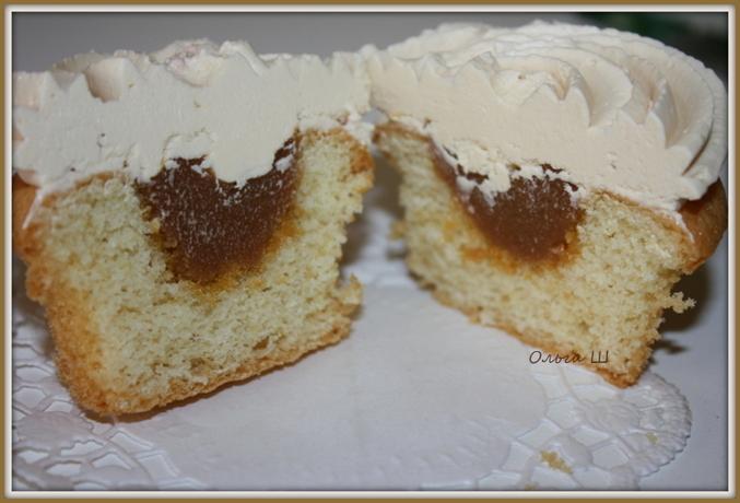 Капкейки с заварным кремом внутри рецепт пошагово