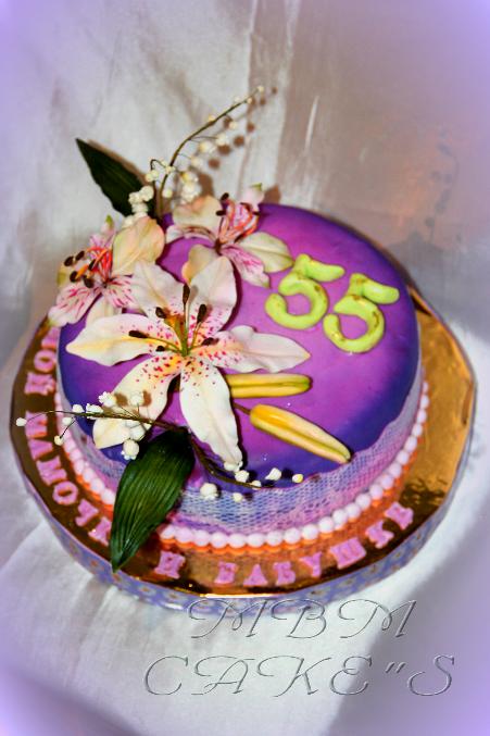 Торт на юбилей 55, фото