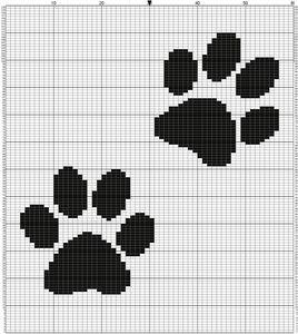 Схема для вышивки следов