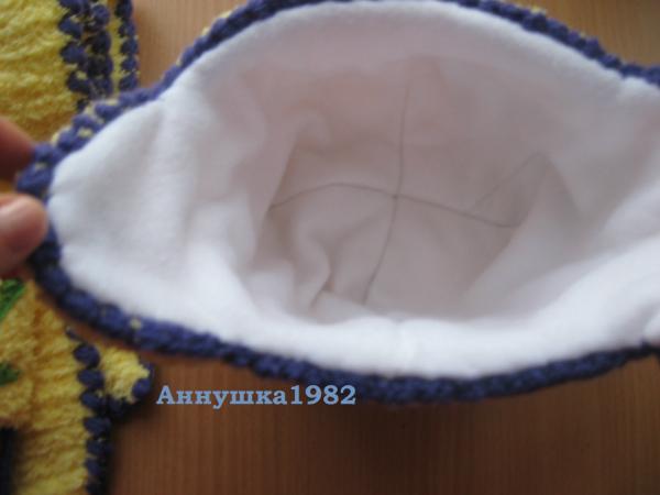 Как сделать подкладку из флиса для вязаной шапки