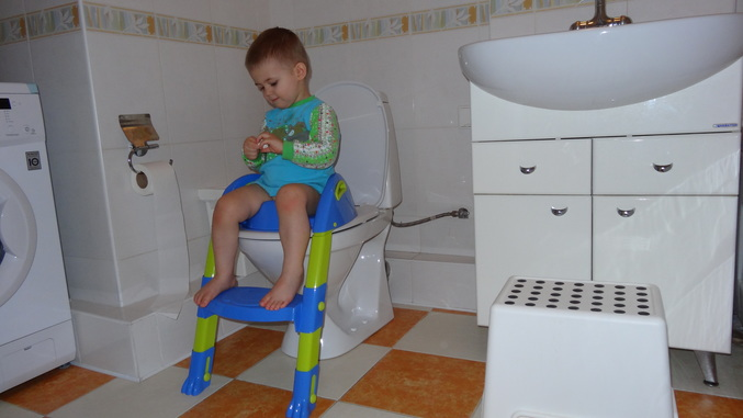 Детская подставка для унитаза со ступенькой