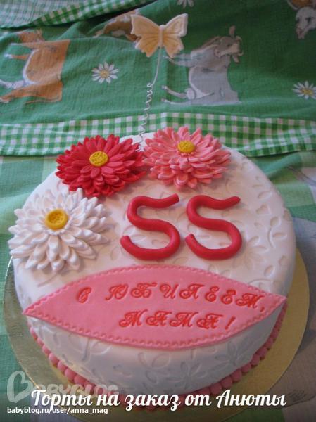 Торт 55 лет картинка