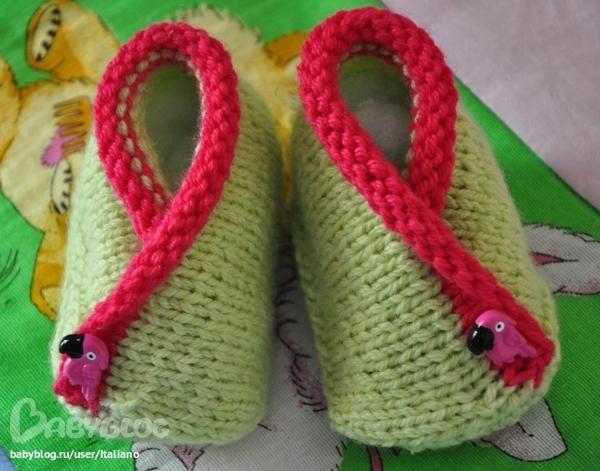 Клубок.ру вязание для детей пинетки