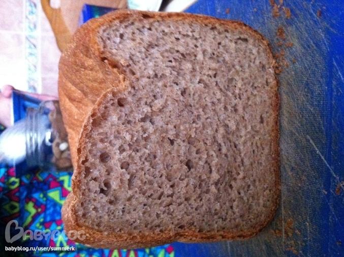 Хлеб на ржаной закваске в хлебопечке panasonic