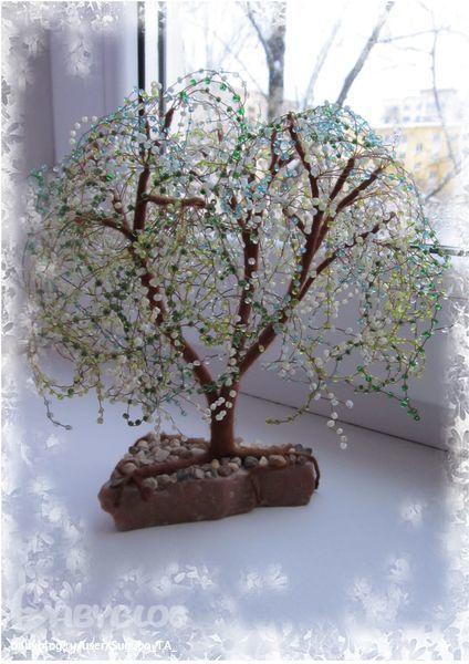 Делаем из бисера: Деревце Из Бисера ФОТО #2.