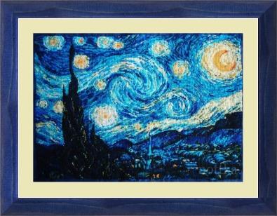 Риолис вышивка звездная ночь