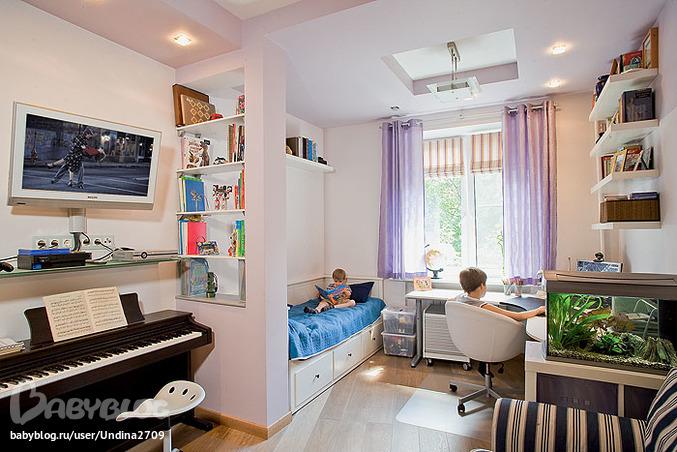 Дизайн комнаты 16 кв.м детской фото