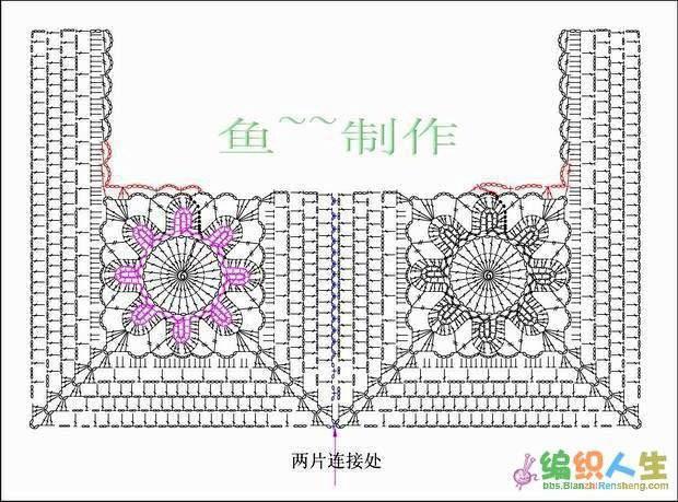 Сочетание ткани и вязания схема