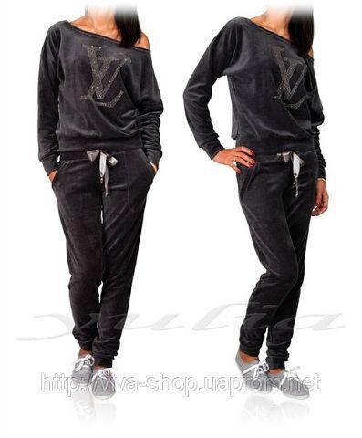 Спортивный костюм Louis Vuitton 1620р.Размер  42-44-46-48 Цвет  коралл,  темно-серый, голубой 952cf40da24