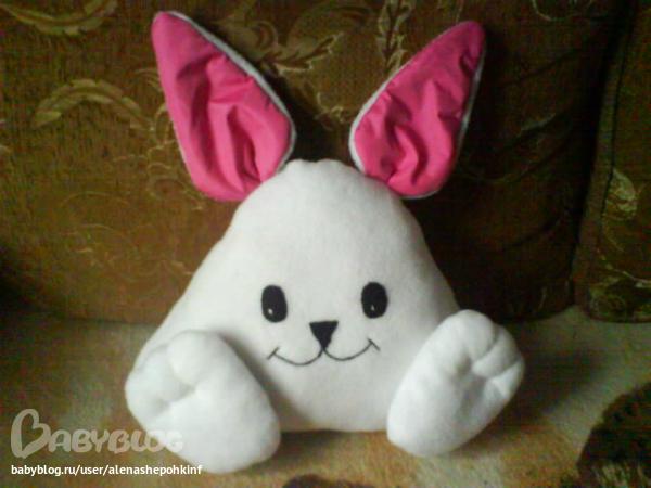 Подушка зайца своими руками