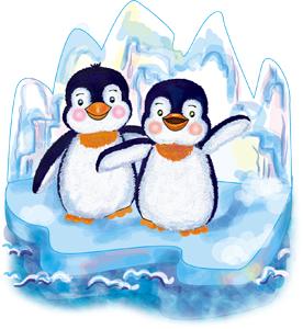 Картинки по запросу пингвины на льдине рисунок