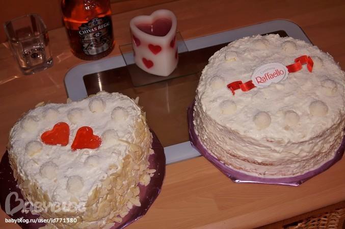 Торт из готовых бисквитных коржей рафаэлло рецепт с фото