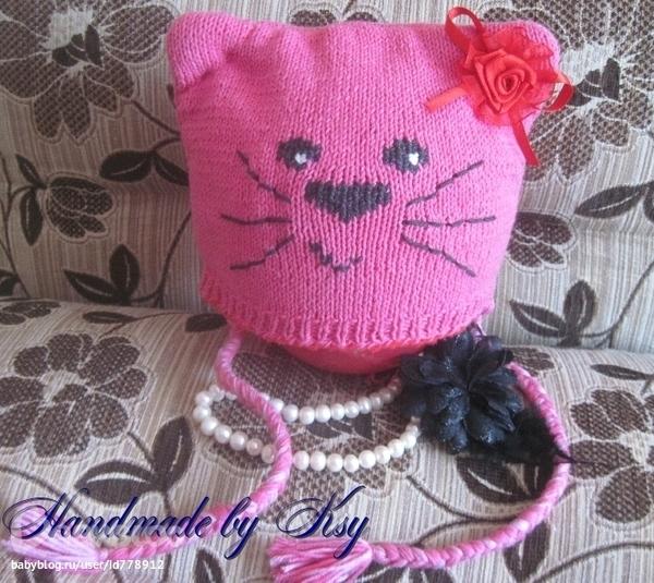 Вязание детской шапочки котенка