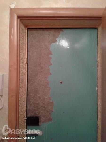 Декор дверной двери своими руками 854