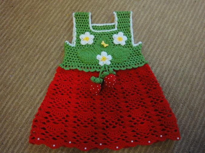 Вяжем детское платье крючком мастер класс 7