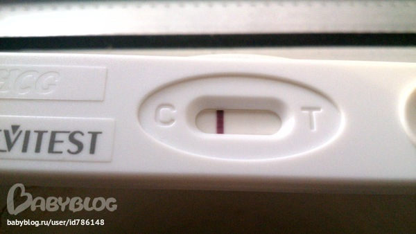 отрицательный тест на беременность фото