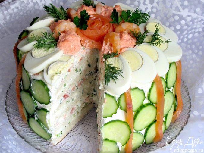 скандинавский закусочный торт рецепт фото