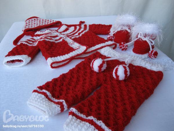 Вязание костюма на 1 год