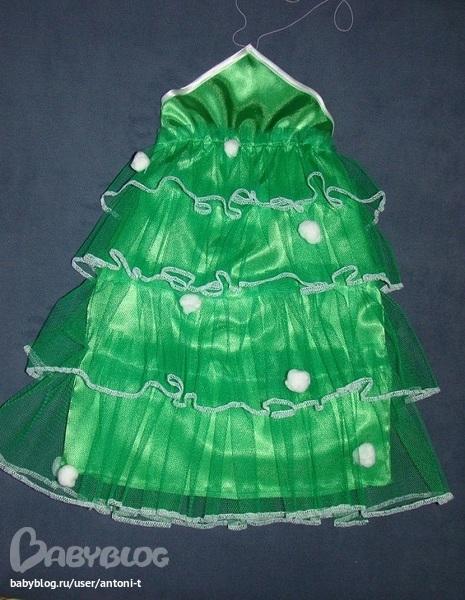 новогодний костюм елочка для девочки своими руками - photo#46