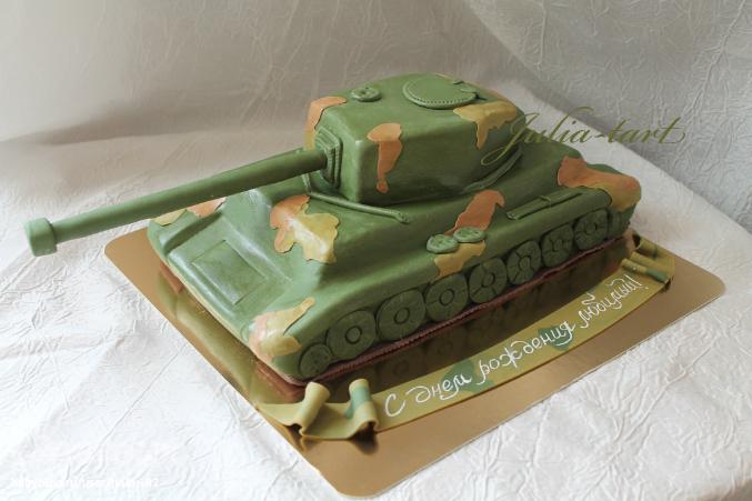 Торт с танком своими руками