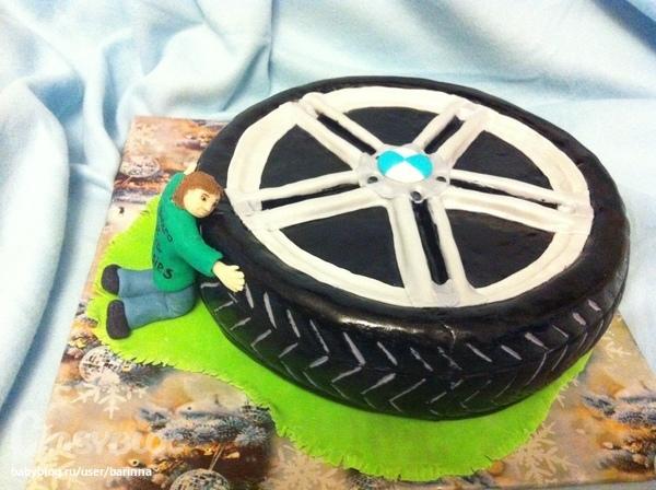 Торт в виде колеса машины своими руками