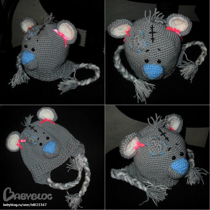 Шапочка мишка тедди)))Оцените!