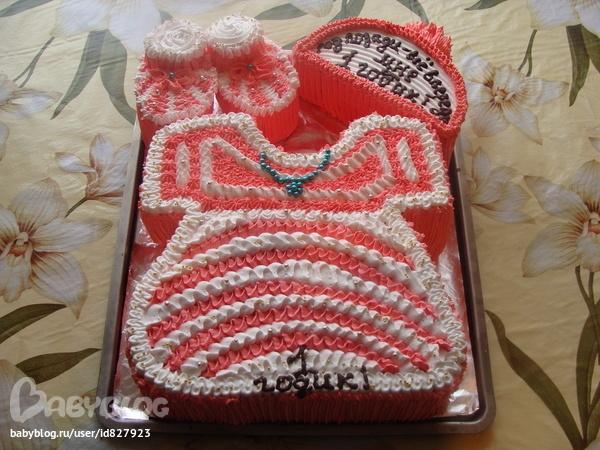 Тортик на годик девочке