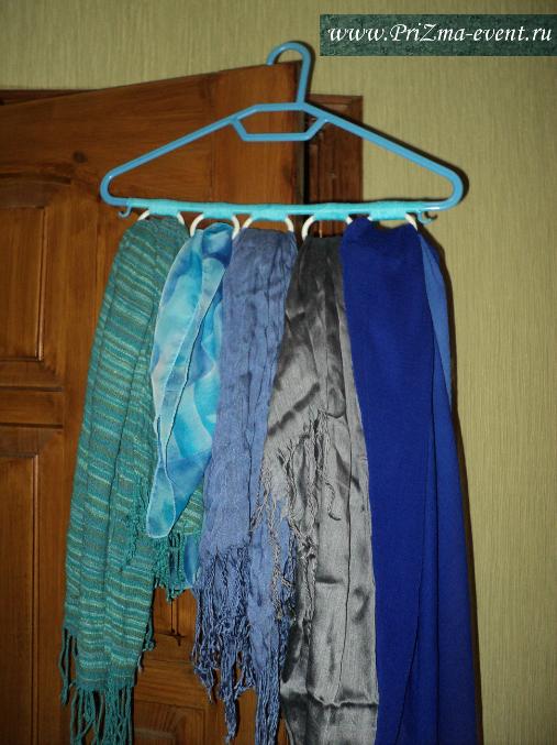 Вешалки для шарфов и платков своими руками 74