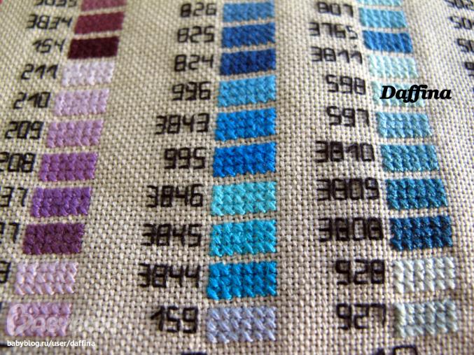 Вышивка крестом цвет ниток 415