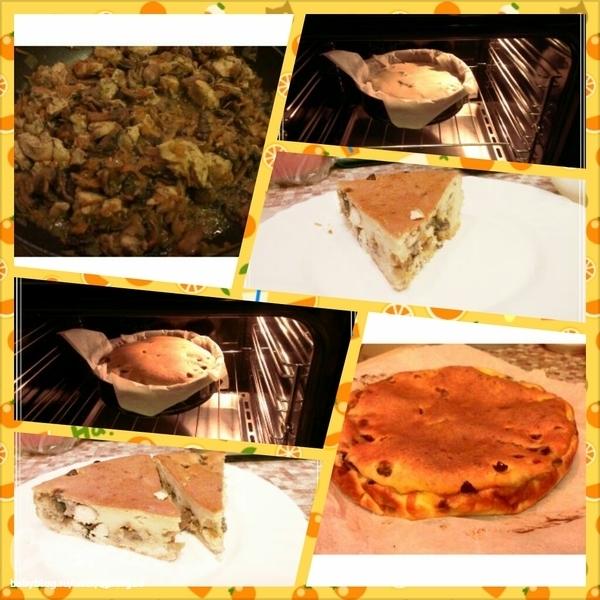Пирог с шампиньонами
