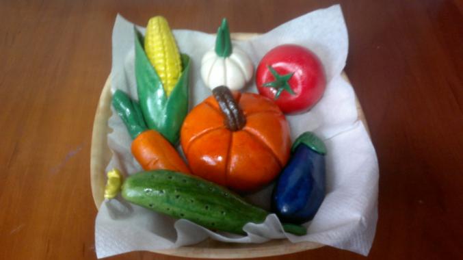 Солёное тесто поделки овощей 763