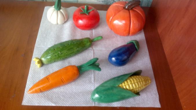 Солёное тесто поделки овощей 851