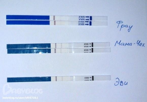 Тест на беременность фрау 2 полоски